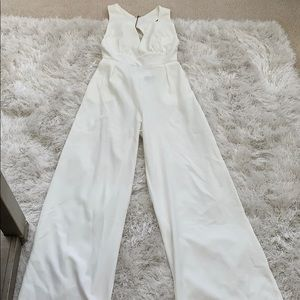 Creme Going Out Jumpsuit